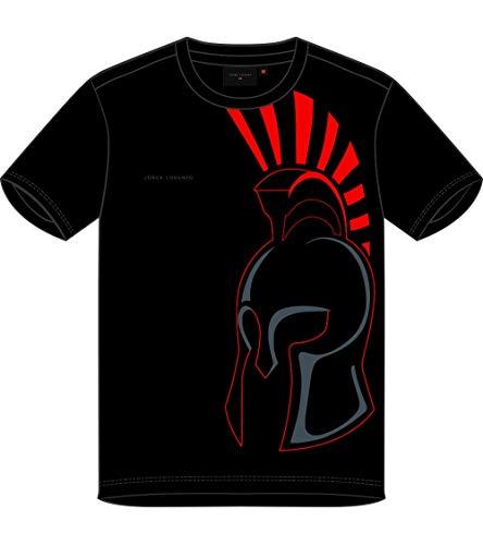 Jorge Lorenzo - Camiseta negra para hombre del Spartan Helmet, oficial 2019,...