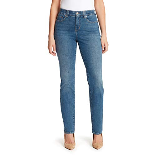Gloria Vanderbilt Women's Plus Size Revolution Solution Straight Leg Jean, Hartford - Whiskers, 16W