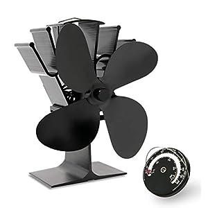 Acorn ventilador alimentado por calor para estufa de leña y chimenea, respetuoso con el medio ambiente y eficiente…