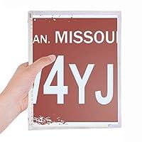 アメリカ合衆国アメリカ車数パターン 硬質プラスチックルーズリーフノートノート