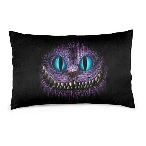 stimulus Artes, juego de fundas de cojín de gato, che-shire, ali-ce animal, funda de almohada para fiesta con sofá a prueba de polvo para dormitorio