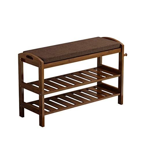 HLL Shoe Shelf Rack Simple Home Small Shoe Cabinet Hall Cabinet Bamboo Simple Modern Door Can Sit Shoe Bench,70x29 x 51 m,70x29 x 51 m