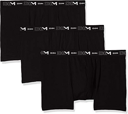 Dim Herren Coton Stretch Boxer X3 Boxershorts, Schwarz (Noir/Noir/Noir 0hz), Large (Herstellergröße: 4) (3er Pack)