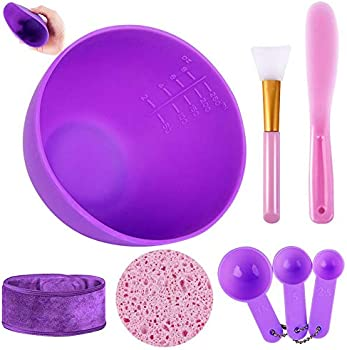 Anmyox DIY Face mask Mixing Tool Kit with Silicone Mask Bowl