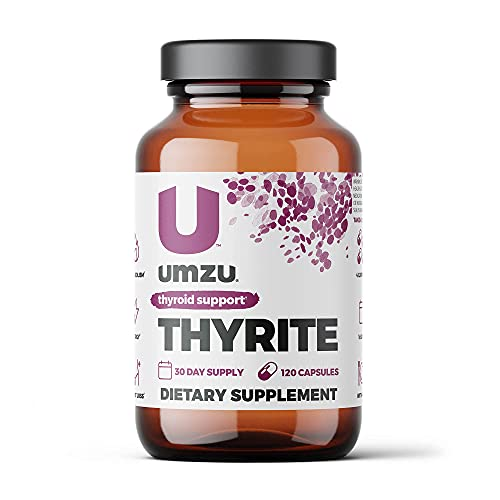 UMZU Thyrite   Advanced Thyroid Supplement to Support Healthy Thyroid Function with Magnesium, Ashwagandha, Zinc, Copper, Iodine & Selenium   30 Servings