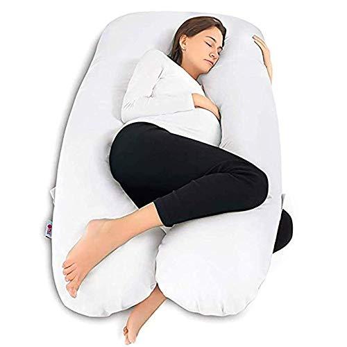 CRMY Almohada de Embarazo Almohada de Espuma viscoelástica para Todo el Cuerpo para Mujeres Embarazadas con Funda de Microfibra Ultra Suave 145x75cm