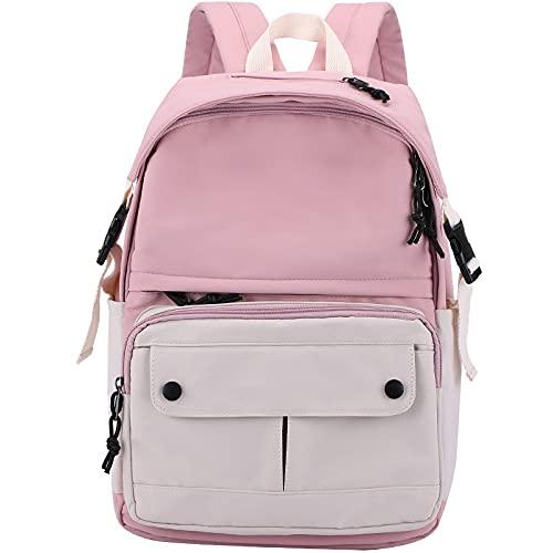 QIANJINGCQ Bolso de hombro de moda todo-fósforo bolso de escuela para estudiantes de secundaria pequeño color fresco contraste gran capacidad estudiante de secundaria mochila portátil transpirable