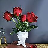Anatomical Heart Vase Red Finish, Anatomical Heart Vase Mold, Love in Bloom Porcelain Heart Vase, 9.75'' Anatomical Heart Statue,Anatomical Heart Statue Shelf Decor (B-White)