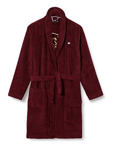 Tommy Hilfiger Jungen Towelling Signature Robe, Deep Rouge, L