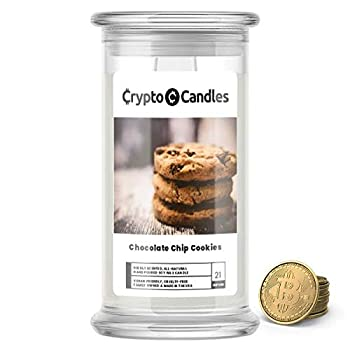 Jewelry Candles | Crypto Candle Collection | Bitcoin Token Inside | Guaranteed $5 in Real Bitcoin Value | 21oz Made in USA | Prime | Chocolate Chip Cookies