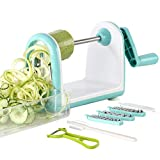 Ourokhome Zucchini Noodle Maker Spaghetti Spiralizer - 5 Blades Vegetable Slicer for Veggie Noodles...