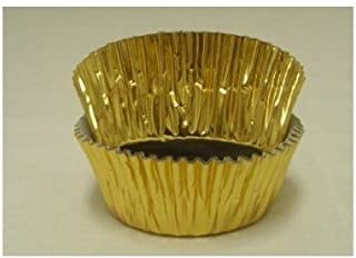 Jubilee Sweet Arts 50 Count Foil Cupcake Muffin Baking Cups, GOLD