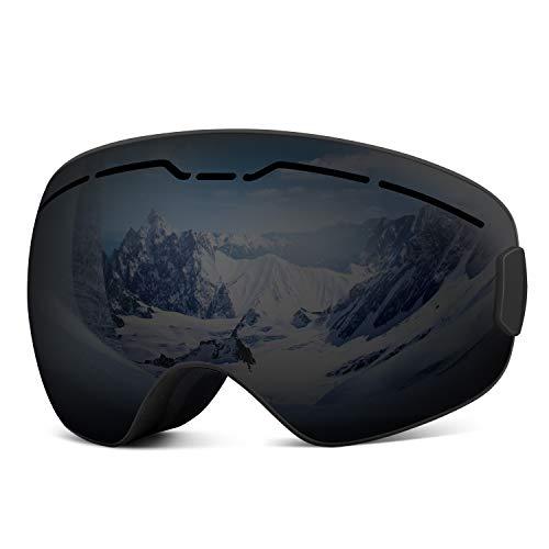 Rhino Valley Ski Goggles, Afneembare Dubbele Lens Anti-glare Winddichte Beschermende Veiligheid Skate Bril voor Schaatsen Skiën & Snowmobile Snowboarden Compatibel voor Mannen Vrouwen Kinderen