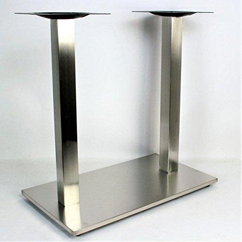 B-Ware Tischgestell 105cm Tischfuß Edelstahl rechteckiger Fuß Modell Erfurt