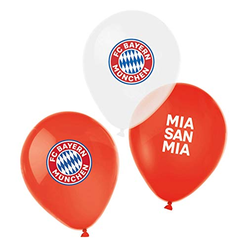 FC Bayern München Luftballons (6 Stück) Ballons, Balloons, Palloncini FCB - Plus Lesezeichen I Love München