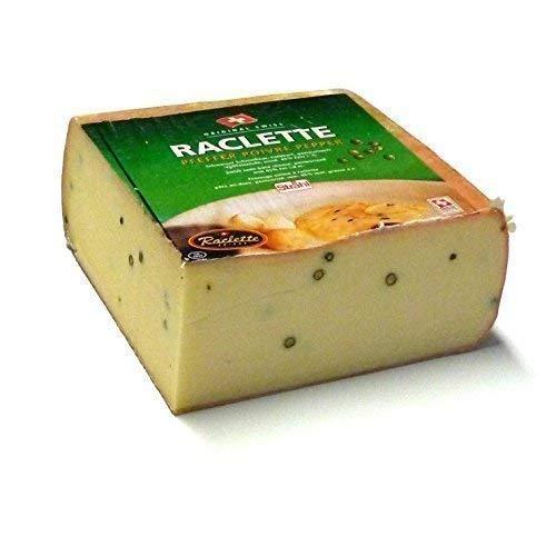 Raclette Käse mit Pfeffer aus der Schweiz Raclettekäse 400g