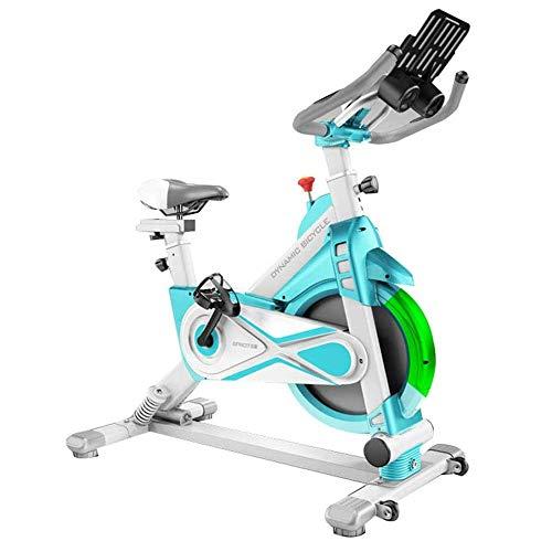 WJFXJQ Giro de la Bici, Bici de Interior, Suave y silencioso Giro Bicicleta estacionaria, Completamente Ajustable Manillar y Asiento con el Sensor de frecuencia cardíaca