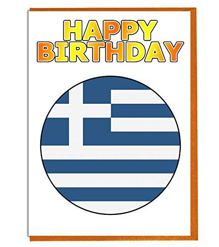 Geburtstagskarte mit griechischer Flagge – Freund – Familie – Kollege – Mate – Boss – Loved One