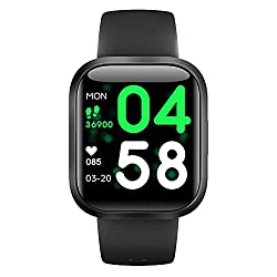 H4 Fitness Health 2in1 Smart Watch for Men Women Smartwatch with All-Day Heart Rate/Blood Pressure/Sleep Monitor IP67 Waterproof Sports Activitity Tracker Bluetooth Watch(BLK)