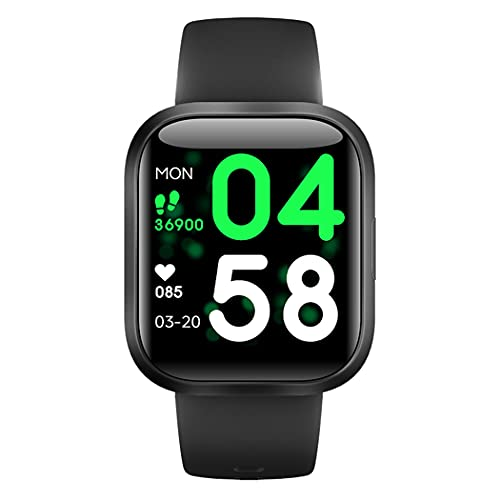 2021 Fitness Health Smart Watch for Men Women Smartwatch with 20 Sports Activity Tracker 24/7 Body Temperature Heart Rate Sleep Monitor IP68 Waterproof Compatible for Android iOS (BLK)