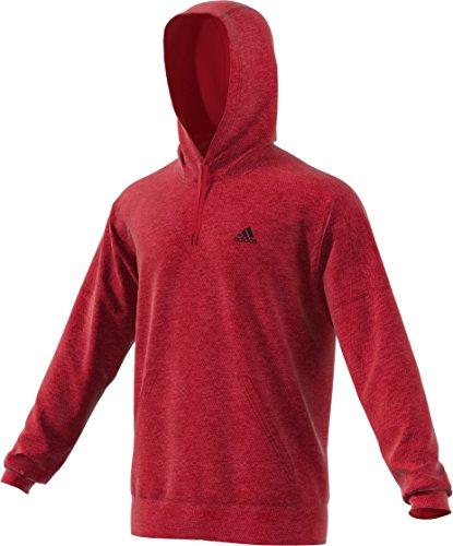 adidas Athletics Team Issue Full-Zip Fleece Hoodie Sudadera con Capucha, Hombre, Scarlet Melange, XS