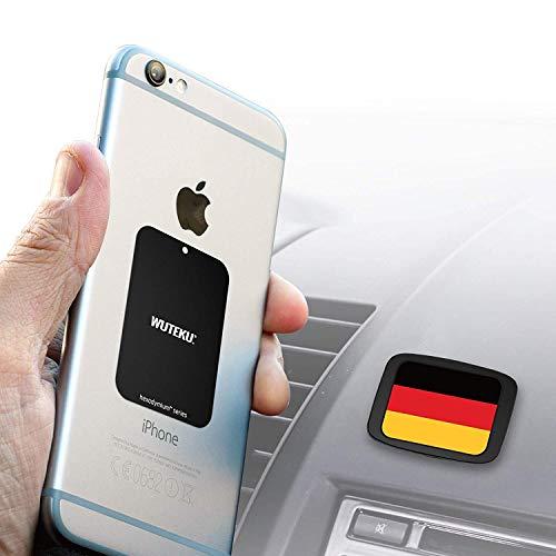 Wuteku Dash Flat Handy Halterung - Hexadymium 6 Magnete - Kompatibel mit Samsung S10 S9 S8 & S8 Plus S7 Edge, und iPhone XR, XS, X 8, 7 Plus -Beste Magnet für auto - Universal