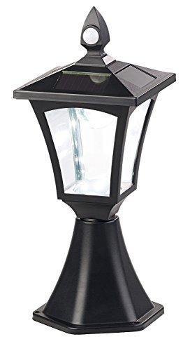 Royal Gardineer Solar Laternen: Solar-LED-Standleuchte, PIR-Sensor, Dämmerungssensor, 100 lm, IP44 (Sockelleuchte)
