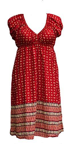 Induswereld dames jurken V-hals A-lijn Plus grote maten omstandjurk rood