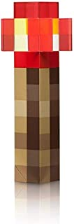 ThinkGeek Minecraft Redstone Light-Up Torch – Easy to Mount to Wall as Night Light - Officially-Licensed Minecraft Toy