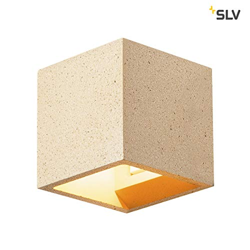 SLV Solid Cube Applique murale, edelstahl304, grès Jaune