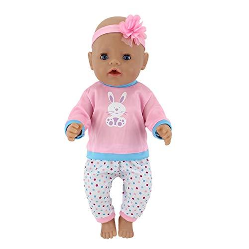 SMIAO Simulation Puppe Kleidung Süße Küken Tier Schlafanzug Set + Hut für 18 Inch American Puppe &43cm Neugeborene Baby - A036