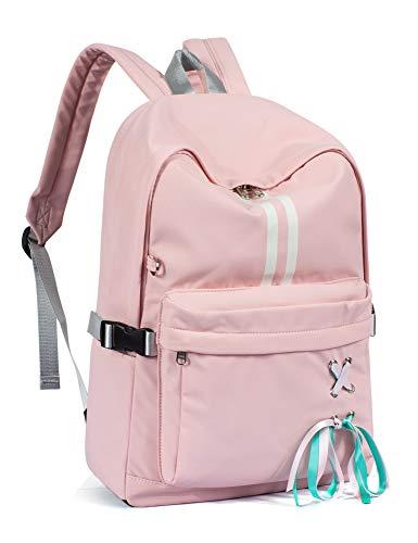 Leaper Water-resistant Laptop Backpack Bookbag School Bag Travel Daypack Pink