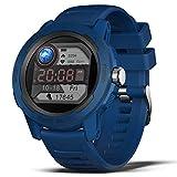 BingoFit Smartwatch für Herren,1,4 Zoll HD Fitness Armbanduhr mit Pulsuhr Schlafmonitor, Aktivitätstracker, Kalorien, Schrittzähler, Stoppuhr, IP68 Wasserdicht Rund Sportuhr Herren für iOS Android
