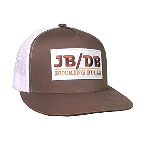 Rodeo Time JB/DB Brown & White Mesh Flatbill