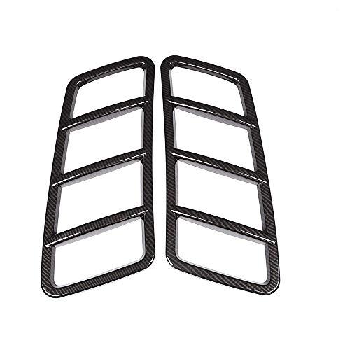 Accessoire extérieur Automatique pour véhicule, pour la Classe W166, Capot de Toit de Moteur, Garniture d'autocollant ABS en Plastique de Fibre de Carbone, Noir, 2 pièces/Jeu