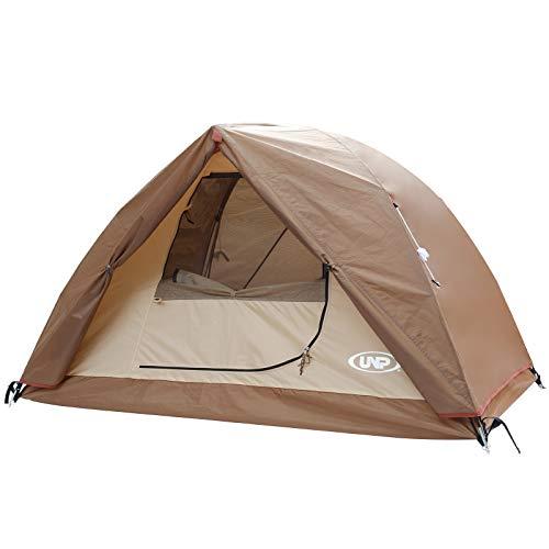 UNP テント 1-2人用 キャンプテント グランドシート付き 前室付き 二重層構造 アウトドア &ツーリング用 防風 防水 軽量 通気 ソロキャンプ 組み立て簡単