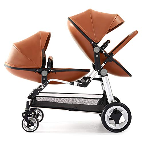 New ZZLYY Double Baby Stroller by – Twin Lightweight Infant Stroller with Carry Handle – Silver ...