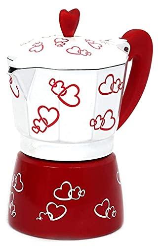 Classic Aluminum Moka Pot Stovetop Espresso Maker Italian Coffee Maker Stufe Top CoffeeFeer Espresso Maker (Color : White, Size : 300ml)
