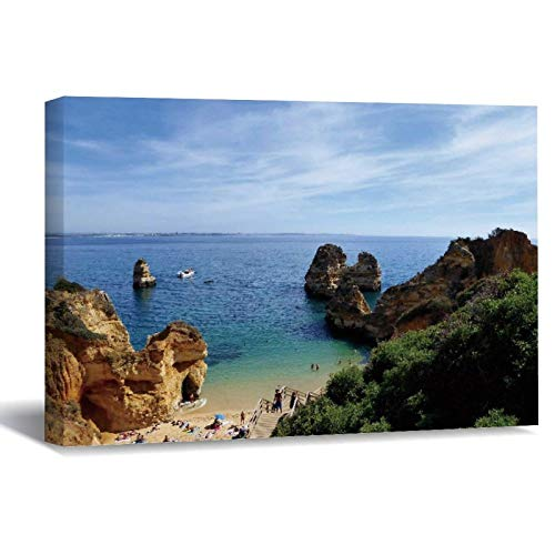 Lienzo sin marco para pared, diseño de Portugal Lagos Algarve