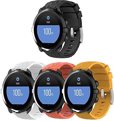 Gransho Correa de Reloj Compatible con Suunto 9/7 / D5i / Traverse/Spartan Sport Wrist HR Baro, Silicona Banda de Reemplazo Pulsera (4-Pack H)