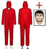 Seawhisper La Casa De Papel Kostüm Roter Overall Herren Arbeitsanzug Damen Karneval Kostüm...