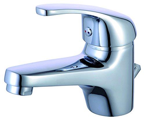 Eisl Waschtischarmatur Europa, Badezimmerarmatur mit Ablauf-/Exzentergarnitur, Einhebelmischer, Chrom, NI075EUCR