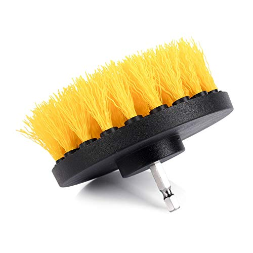Abrasive Tools 4' 100mm Drill Brush Power Drill Brush Attachment Use To Clean Tile Flooring Grout Scrub Tool Cleaning Car Tires 1-3Pac - (Grit: 3Pac)