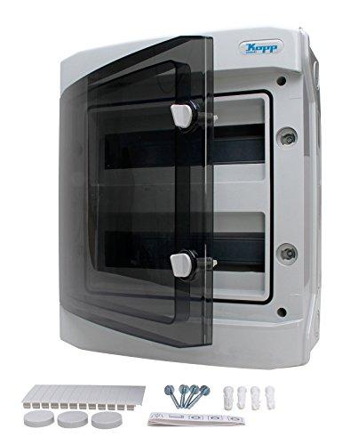 Kopp 353812048 AP-FR-Verteilerkasten mit Tür, IP40 für 24 Pole, 2-reihig