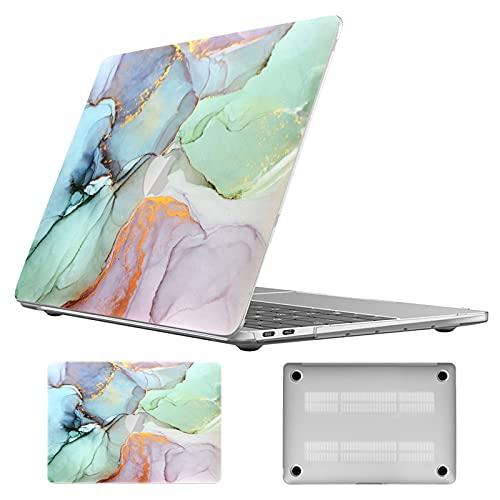 Vozehui Carcasa rígida para portátil compatible con MacBook Air de 13 pulgadas, 2021 2020 2019 2018 versión A1932 A2179 A2337 M1, carcasa rígida de plástico mate para Mac Air 13 con patrón de mármol