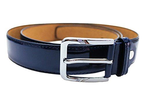 Mat Sartoriale Cintura elegante uomo vernice cinta nuova belt cerimonia (blu lucido)