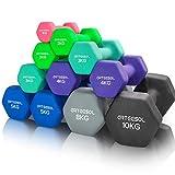 arteesol Fitness Haltères 1kg/2kg/3kg/4kg/5kg/8kg Paires d'haltères légers très Lourds pour Les Hommes Femmes Poids Gymnastique à la Maison Exercice de Force étanche et antidérapant (2er-Set)