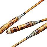 xihongshi Caña de Pescar 28 Ultraligera y súper Dura, caña de Pescar de Carbono de Poste de Mano, caña de Pescar de bambú, Hecha a Mano 5.7M
