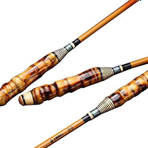 xihongshi Canna da Pesca 28 Ultraleggera e Super-Dura, Canna da Pesca in Carbonio a Mano, Canna da Pesca in bambù, Fatta a Mano 5.7M