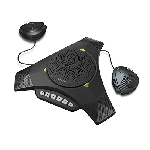 Meeteasy MVOICE 8000 EX-B Expandable Bluetooth Speakerphone for Softphone and Mobile Phone Conference Call (Expansion mic Included)